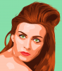 redhead vector portrait teal bcgrnd.png
